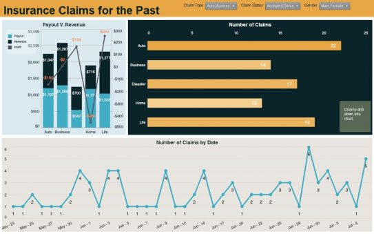 Insurance Claims Dashboard Example