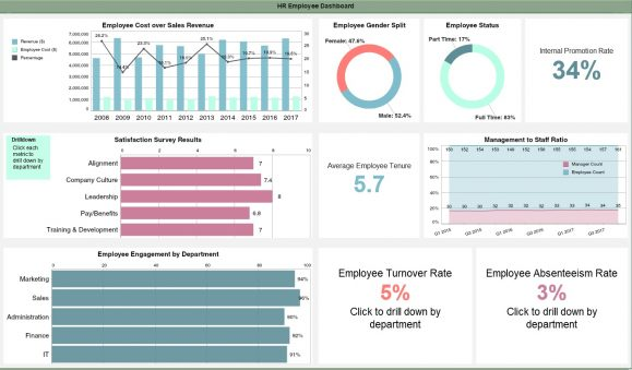 Human Resources Dashboard Example