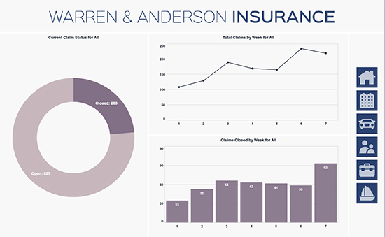 insurance dashboard example